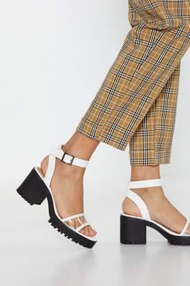 efc874317fa0 Nasty Gal Keep That in Perspex-tive Low Heel Sandals