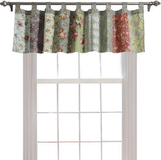 Greenland HOME FASHIONS Home Fashions Blooming Prairie Tab-Top Window Valance