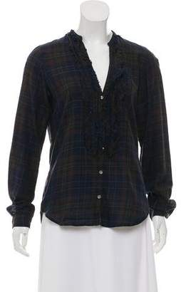 Hartford Long Sleeve Plaid Top