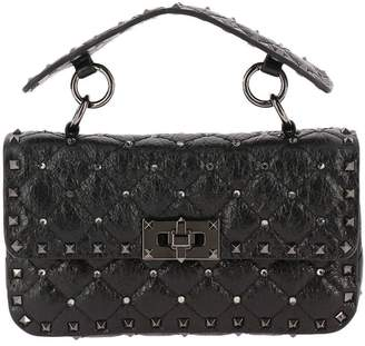 Valentino Mini Bag Rockstud Spike Mini Bag In Genuine Leather With Micro Studs And Removable Shoulder Strap