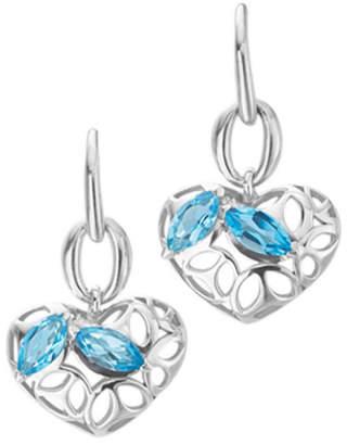 Di Modolo Silver Topaz Heart Earrings