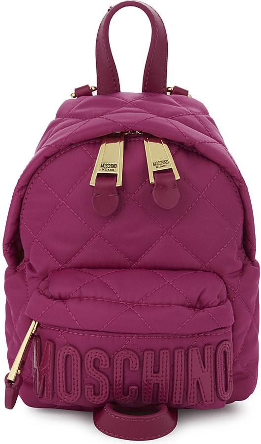 MoschinoMOSCHINO Mini quilted backpack
