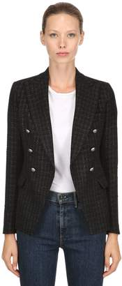 Tagliatore Double Breasted Lurex Tweed Blazer