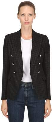 Tagliatore Double Breasted Lurex Tweed Blazer