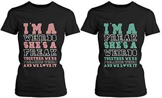 Love Cute Best Friend T Shirts - Freak and Weirdo - Funny BFF Matching Shirts