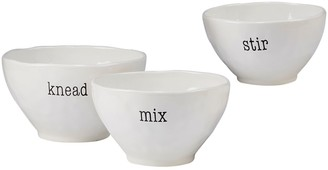 Certified International Just Words 3-piece Mixing Bowl Set