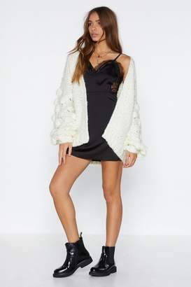 Nasty Gal Safe in Your Arms Chunky Knit Cardigan