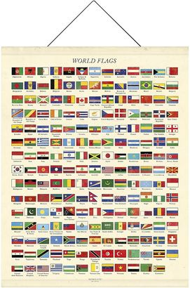 Newgate Flags of the World Hanging Wall Art