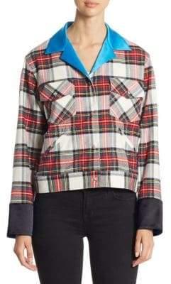 Harvey Faircloth Plaid Button-Front Jacket
