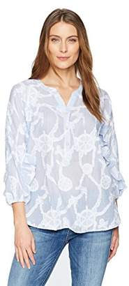 Democracy Women's Cascade Sleeve Nautical Shirt
