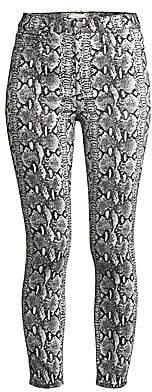 Alice + Olivia Jeans Jeans Women's Good High-Rise Skinny Python Print Jeans