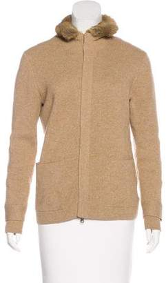 Brooks Brothers Wool Fur-Trimmed Jacket