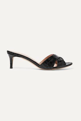 Giuseppe Zanotti Felicia Croc-effect Leather Mules - Black