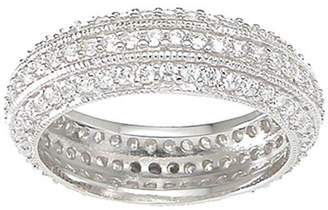 Plutus Brands CZ Sterling Silver Eternity Ring