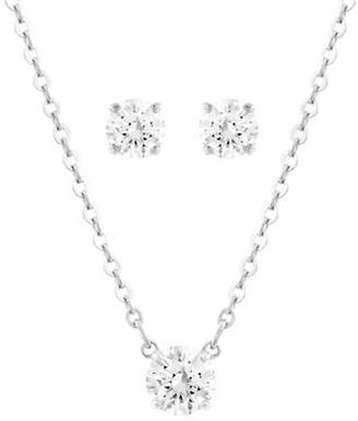 Swarovski Silver Tone Crystal Attract Jewellery Set