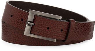 Neiman Marcus Men's Heavy Milled Cut-Edge Leather Belt