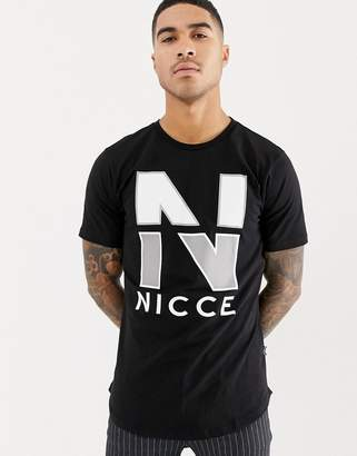 Nicce London t-shirt in black with chest logo
