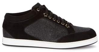 Jimmy Choo Miami Glittered Suede Trainers