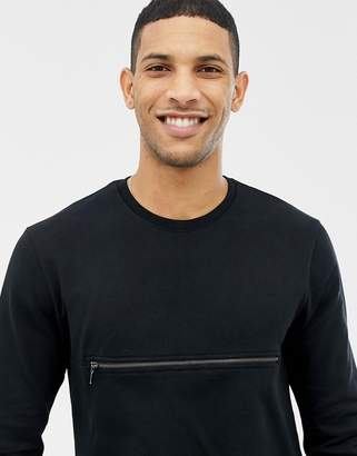 ONLY & SONS Sweatshirt With Front Zip Pocket