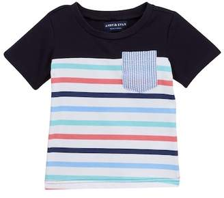 Andy & Evan Multi Striped Tee (Baby Boys)