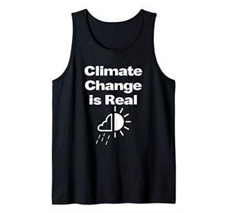 Icons Climate Change Is Real Day Matching Idea Saying Slogan Tank Top