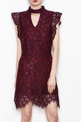 Allison Collection Choker Neck Dress
