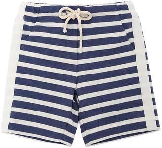 Il Gufo Striped Cotton Sweat Shorts