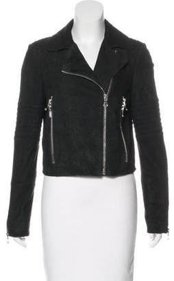 J Brand Distressed Suede Jacket