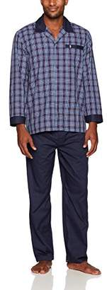 Jockey Men's Woven Long Sleeve Pajama Set