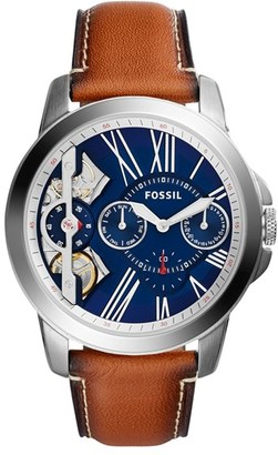 Fossil 'Grant' Chronograph Leather Strap Watch, 44Mm $155 thestylecure.com