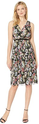 Adrianna Papell Printed Floral Garden Printed Tiered Dress