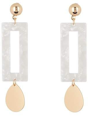 Panacea White Resin Rectangle Earrings