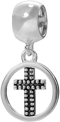 Individuality Beads Sterling Silver Christmas Cross Charm