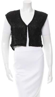 Alice + Olivia Silk Beaded Vest