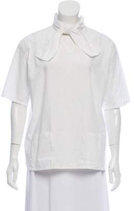 Opening Ceremony Short Sleeve V-Neck Top
