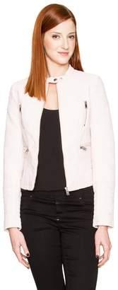 Le Château Women's Faux Leather Moto Jacket,M
