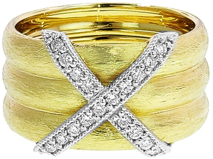 Jude Frances criss cross band ring