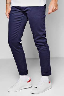 boohoo Tapered Fit Chino With Stretch