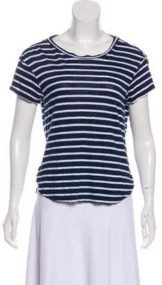 Frame Striped Short Sleeve Top