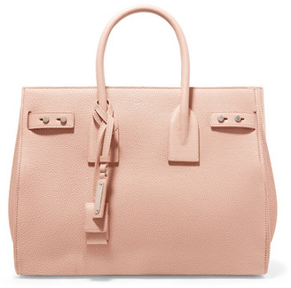 Saint Laurent - Sac De Jour Small Textured-leather Tote - Blush $2,990 thestylecure.com