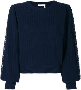 See by Chloe embroidered knit jumper