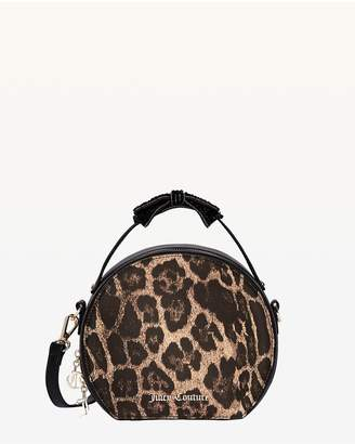 Juicy Couture Burnett Leopard Print Round Crossbody Bag