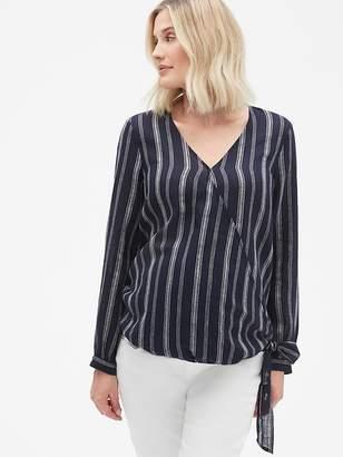 d744ba39245 Gap Maternity Long Sleeve Wrap Top in Linen