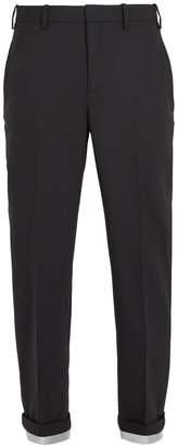Neil Barrett Turn-up cuff tapered-leg woven trousers