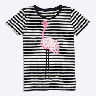 J.Crew Factory Flamingo stripe collector T-shirt