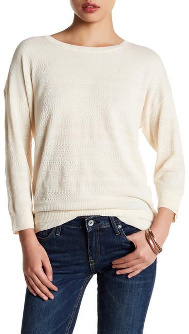 Inhabit Knit Lace Crew Neck Sweater