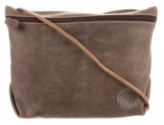 Carlos Falchi Distressed Leather Shoulder Bag