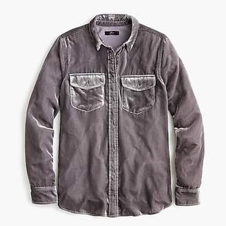 J.Crew Classic-fit shirt in drapey velvet