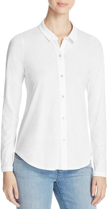 Eileen Fisher Petites Cotton Knit Button-Down Shirt $138 thestylecure.com