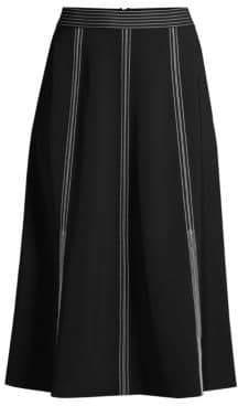Lafayette 148 New York Yari High-Waisted Midi Skirt